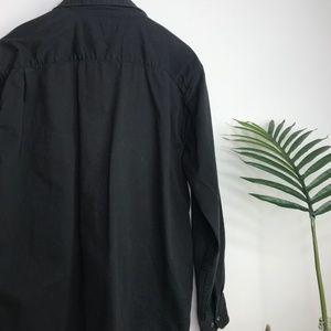 Wrangler Shirts - 90s Wrangler Black Utilitarian Button Down Shirt